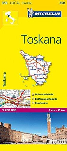 Michelin Toskana: Straßen- und Tourismuskarte 1:200.000 (MICHELIN Localkarten)