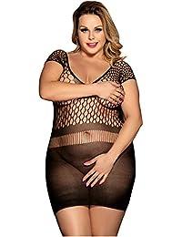 MarysGift Damen Dessous Negligee Hosenträger Rock Minikleid für Frauen