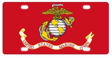 United States Marine Corps (USMC) Metall Nummernschild Rahmen Dekorative Frontplatte 15,2x 30,5cm - United License Plate Frame