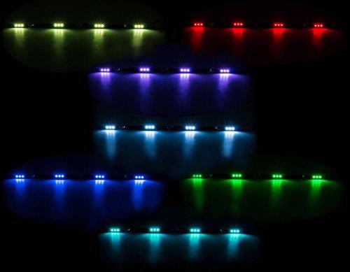 Preisvergleich Produktbild LED-Innenleuchte, flache Bauweise, 4 x 3 SMD-LED, 7 Farben, geschaltet, Länge 70 cm, 10 - 30V