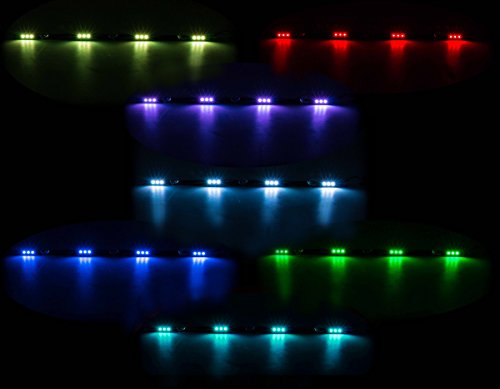 All Ride LKW Innenbeleuchtung, LED-Leiste Flache Bauweise, 4 x 3 SMD-LED, 7 Farben, geschaltet, Länge 70 cm, 10-30V -