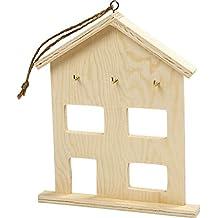 Cuelga llaves, medidas 20x2x17 cm, madera contrachapada, 1ud