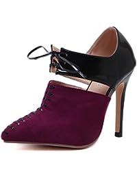 L@YC Mujer Zapatos De TacóN OtoñO Hechizo De Color Con Flecos Mujer Zapatos CóModos Partido