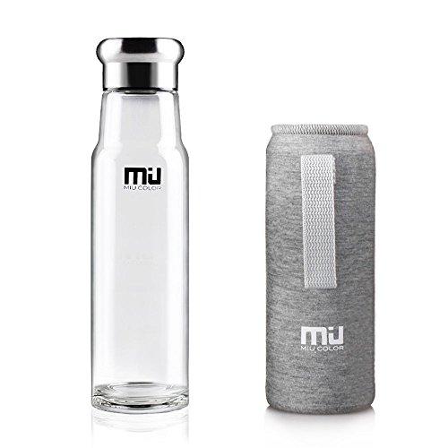 MIU-COLOR-550ml-Bouteille-deau-en-Verre-Borosilicate-Housse-Anti-chaudage-en-Noprne-cologique-Sans-BPA-PVC-Plastique-et-Plomb-CHEVALIER