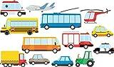 azutura LKW & Auto Wandtattoo Set Transport Wand Sticker Boys Room Nursery Wohnkultur Erhältlich in 8 Größen Riesig Digital
