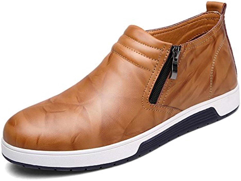 Herren Zipper Casual Schuhe Business Schuhe Frühling Herbst Schwarz Braun Spitze Schuhe Canvas Sports