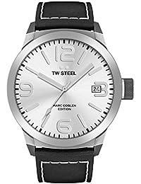 TW Steel Marc Coblen Edition mit Lederband 45 MM Silver/Black TWMC24