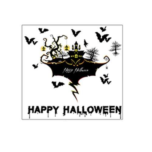 HRYL Halloween Urlaub Wandaufkleber Fledermaus Aufkleber Schlafzimmer Wohnzimmer Abnehmbare Wasserdichte Dekorative Wandaufkleber