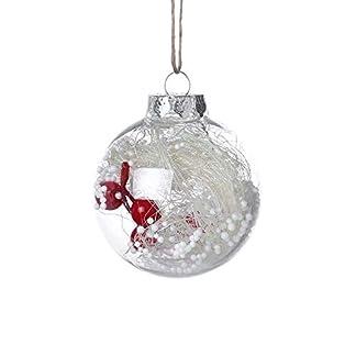 MerryWould Bolas de Navidad de 8cm – Bolas de Plástico Transparentes, Esferas Acrílicas para Decoración Navideña, DIY Adornos para Boda Fiesta Cumpleaños Halloween
