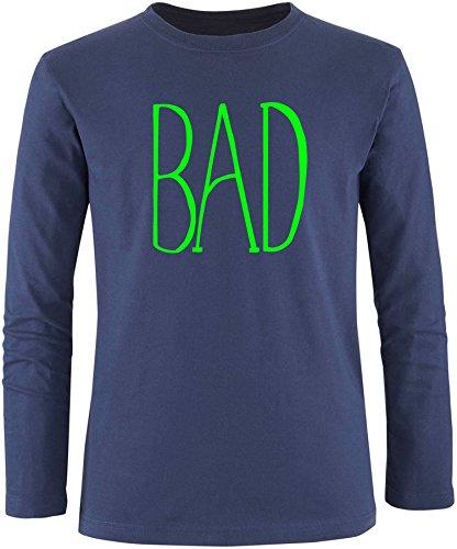 EZYshirt® BAD Herren Longsleeve Navy/Neongrün