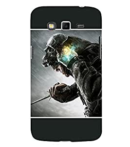 Takkloo warrior super hero,man in black, man with mask, man with super power, man with weapon) Printed Designer Back Case Cover for Samsung Galaxy Grand Neo Plus I9060I :: Samsung Galaxy Grand Neo+