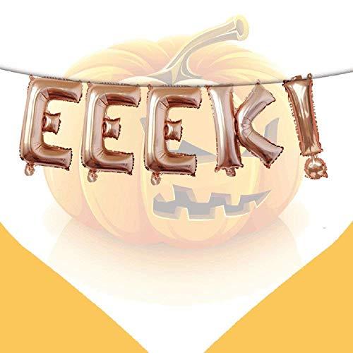 Kodoria Letra de EEEK Halloween Globo de la Bandera Del Globo Mylar Globos de Helio Globos de la Fiesta de Halloween Para decoraciones Del Partido de Halloween (Decoraciones Fiesta De Halloween)
