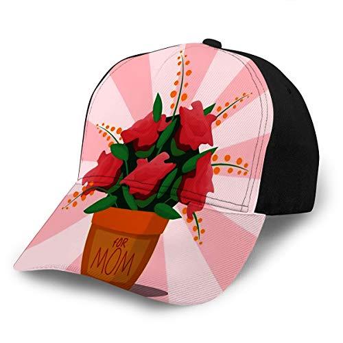 Baseball Hat for Adult Flower Pot Botanical Natural Blossom Flora Beautiful Bloom Decoration Adjustable -