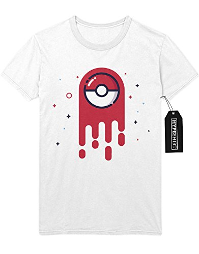 T-Shirt Pokemon Go Melting Ball Team Rocket Jessie James Mauzi Kanto 1996 Blue Version Pokeball Catch 'Em All Hype X Y Nintendo Blue Red Yellow Plus Hype Nerd Game C210002 Weiß