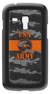 Modelabs Made In France Coque auto cicatrisante en silicone pour Samsung Galaxy S3 Mini Motif Armée Américaine Noir