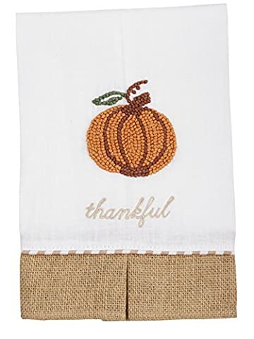 Mud Pie Thankful Pumpkin Towel by Mud Pie