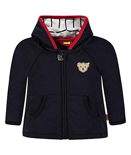 Steiff Collection Jungen Sweatshirt Sweatjacke 1/1 Arm 6832503, Blau (Marine 3032), 62