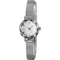 Sunnywill Fashion Luxury Women Uhren Armbanduhr Armbanduhr (Silver)