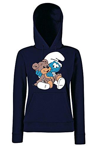 TRVPPY - Sweat à capuche - À logo - Manches Longues - Femme Bleu Marine