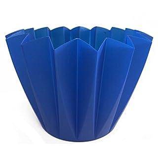 Umtopf Adonis blau 11 cm 5 Stück Sterntopf Zick Zack Topf Übertopf Beton gießen