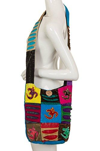 ThaiUK, Borsa a spalla donna multicolore Om large Om