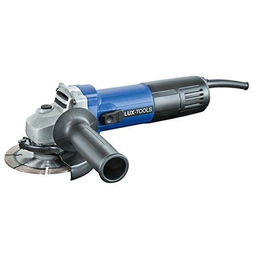 LUX-TOOLS WIS-750/115 Winkelschleifer mit M14-Aufnahme & Spindelarretierung, inkl. Handgriff, Schutzabdeckung und Stirnlochschlüssel | 230V 750W Trennschleifer mit 115mm Scheibendurchmesser