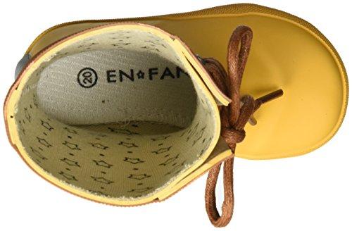 EN FANT Rubber Rain Boot, Bottes de Pluie mixte enfant Gelb (Yellow)