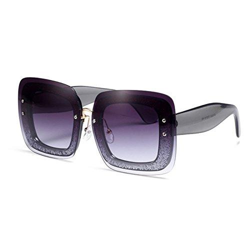 Sunyan Persönlichkeiten, Flimmern, rahmenlose Quadrat Sonne Brille, Zhou Yangqing, den gleichen Stil, Vogue und Sonnenbrille, schwarz