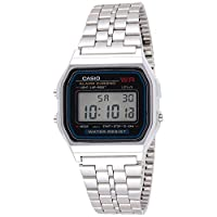 Casio Men's Grey Dial Stainless Steel Digital Watch - A159WA-N1DF