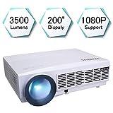 3500 Lumens Beamer, 1080P HD 5.8