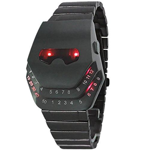 LED Uhren Steel Uhren die Schlange den Kopf Uhr , red -