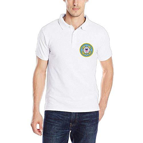 United States Coast Guard Academy United States Navy Klassisches Herren-Polo-Shirt Schnelltrocknendes Golf-Polo-Shirt, XXL -