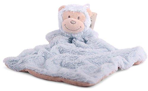 Sonnenscheinschuhe 1 x Baby Schmusetuch AFFE HELLBLAU Kuscheltuch Babytuch blau Kuscheltier Nr.1 Tuch