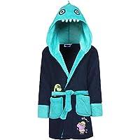 GladRags Boys Kids Peppa Pig/George Dinosaur Dressing Gown Hooded Robe Size 2 3 4 5 6 7 8 Years (Blue, 7-8 Years)