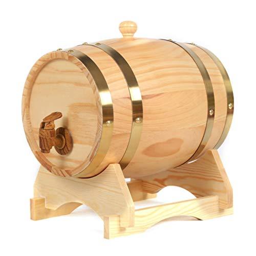 Woode Barril de Vino Madera Dispensador de Roble Forro de Papel de Aluminio Incorporado para Guardar su Propio Whisky, Cerveza, Vino, borbón, Brandy, Salsa Caliente y más 50L