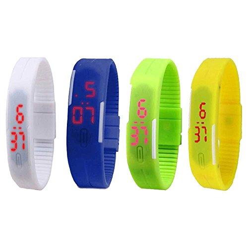 H.P.D. Digital Multi Dial Unisex Watch - H.P.DLBCof4W+Bl+Gr+Y