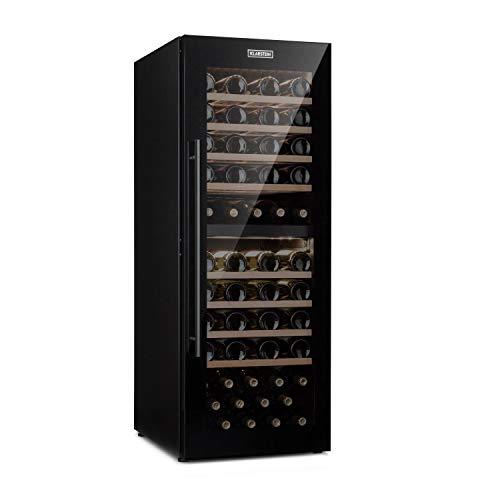 Klarstein Barossa 77 Duo • Cave à vin • 2 zones • 191L • 77 bouteilles • classe B • noir