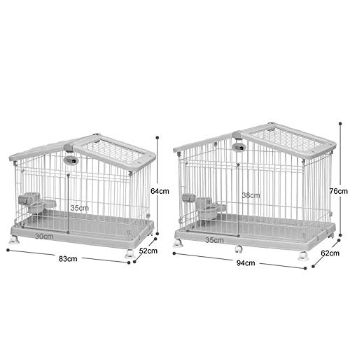 Pet cage, ABS resin dog fence - with toilet, indoor pet house - both skylights can be opened (9 sets) Pet fence