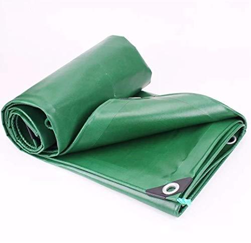 ZOTEE Bâche de Protection en polyéthylène Lourd, Tarpsulin d'extérieur en Tissu Anti-déchirure, idéal pour Une Utilisation par Tous Les Temps à l'extérieur,Green_4x5m