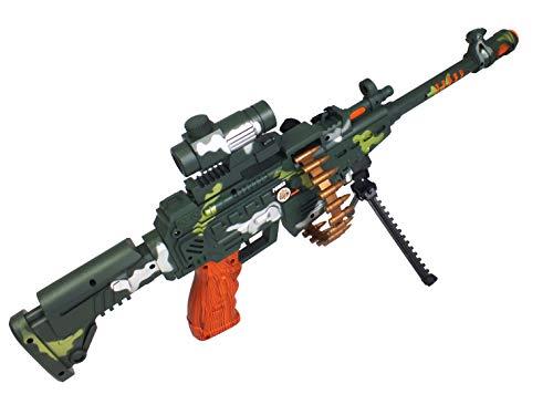 TMD-Line Gewehr Spielzeug 62 cm mit Licht Sound Action Maschinengewehr Waffe Kinderspielzeug (Automatisches Maschinengewehr)