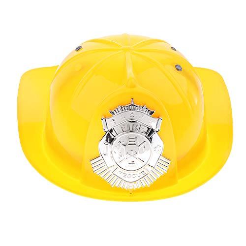 D DOLITY Kinder Jungen Feuerwehrmann Hut, One Size - Gelb