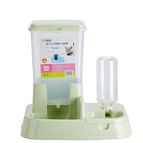 Scrox 1X 2 en 1 Dispensador automático de Alimentos para Perros y Gatos Combinación práctica Multifuncional de Alimentos y bebederos