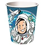 8-teiliges Becher-Set * Astronaut Flo * // Kindergeburtstag Kinder Geburtstag Feier Set Mottoparty Partygeschirr Deko Fest Party Motto Deko Weltraum Space Alien Raumschiff All Becher Pappbecher