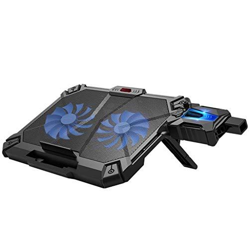 Laptop-Kühler PC Base Radiator, Auspuff-Kühler, Tragbare Halterung (schwarz) -
