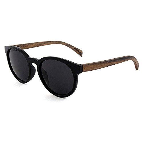 GZW001 Holz polarisierte Sonnenbrille für männer und Frauen uv blockieren Vintage ovale Sonnenbrille Brillen Mode cat Eye Sonnenbrille (Color : RED)