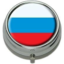 russie russe drapeau pilule cas boîte à bijoux