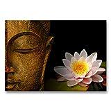 Quadri L&C ITALIA Quadro per Bagno Stampa su Tela 70 x 50 Buddha Zen 3 - Canvas Moderni Soggiorno, Camera da Letto, Decorazioni Centro Estetico, Salotto, Cucina