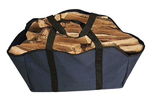 Premium Brennholz Log Carrier & Tasche–Extra große Langlebig –-Best für Kamine–Holz Öfen–Kaminholz–Holzscheite–Camping–Strände–Landschaftsbau, blau (Holzscheite Für Den Kamin)