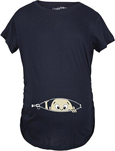 Crazy Dog Tshirts Maternity Baby Peeking Shirt Funny Pregnancy Cute Announcement Pregnant T Shirts