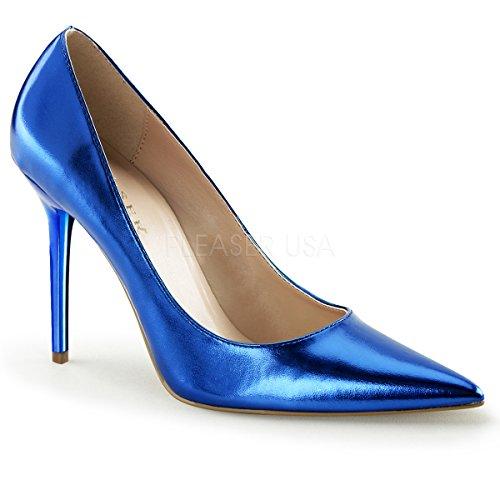 Pleaser CLASSIQUE-20, Damen Pumps Blue Metallic Pu
